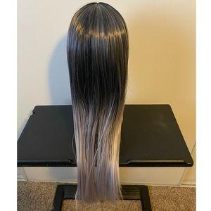 Silver ombré wig